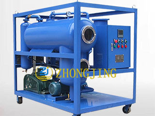 Horizontal insulating oil single stage vacuum filte