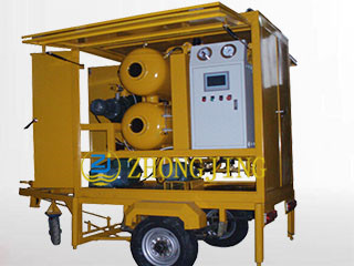 Box type enclosed trailer transformer oil purifier