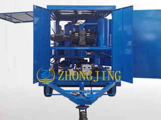 Trailer type single stage insulating oil purifier