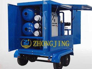 Trailer type double stage transformer oil purifier