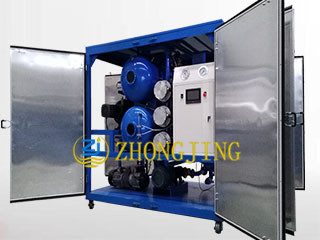 PLC with touch screen transformer oil purifier