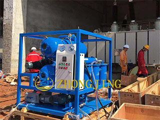 Guidance operation of electric insulating oil repla